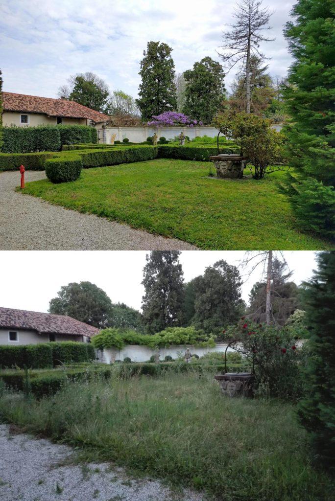 Giardini Palazzo Altan senza manutenzione